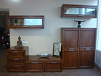 АКЦИЯ! Стенка BELLAVISTA из натурального дерева орех фабрика Santarossa Италия