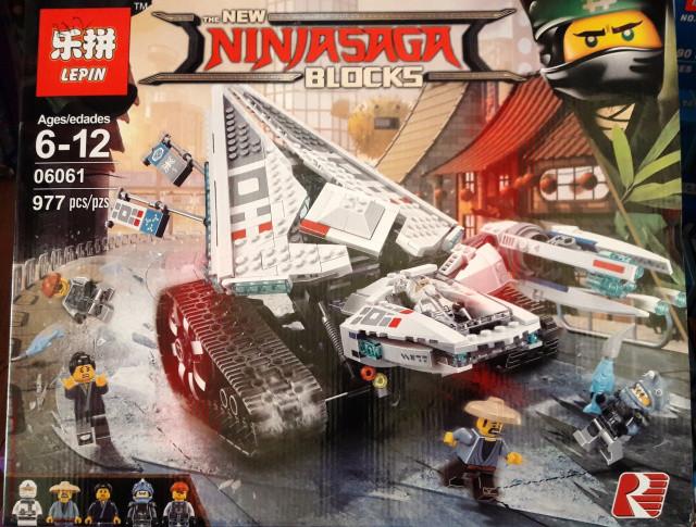 Конструктор Lepin 06061 Ninjago Movie Ниндзяго Муви Ледяной Танк 977 дет