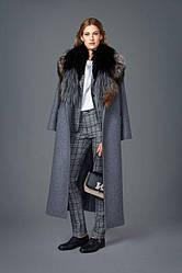 Женское пальто с меховой отделкой, пошив
