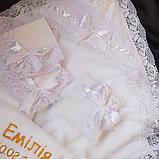 Комплект для крещения девочки Емилия, фото 3