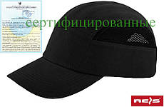 Каска-чорна кепка захисна промислова Польща (каскепка, каскетка) BUMPCAPMESH B