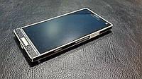 Декоративная защитная пленка для телефона Sony Xperia LT26i рептилия черная, фото 1