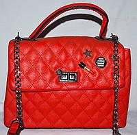 Женский красный клатч Chanel на плечо 27*19 см