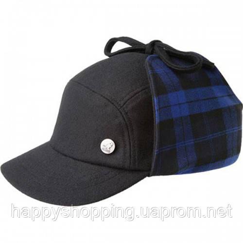 Синяя шерстяная кепка Kangol