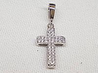 Золотой крестик с фианитами.  Артикул 403-00667, фото 1