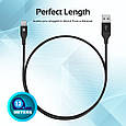 Кабель Promate Cable-LTF Lightning Black, фото 9