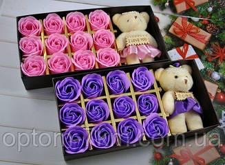 Подарочный Набор Мыло Лепестки Роз с Плюшевым Мишкой