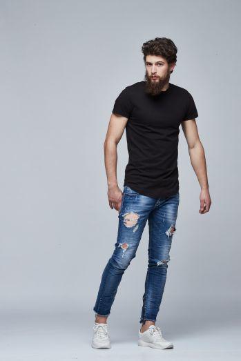 e11c8af90c2f0 Мужская длинная футболка. Мужская черная футболка. НОВЫЙ ЗАВОЗ. КОЛИЧЕСТВО  ОГРАНИЧЕНО!№149