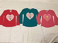 Туника для девочки 5-8 лет Сердце-перевертыш (картина меняется)красного,зеленого цвета оптом