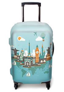 Защитный чехол для чемодана ЧехлоDan, Большой, Europe blue