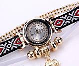 Женские часы браслет с необычным  ремешком, фото 4