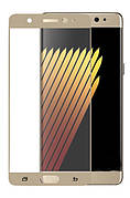 Защитное стекло 3D для Samsung Galaxy Note 7 Золотое