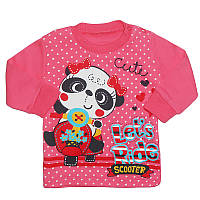 Кофточка для девочки 62-80 на кнопочках, панда, арт.4903