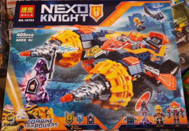 Конструктор Bela 10703 Nexo Knight Нексо найтс Бур машина Акселя 405 дет