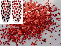 Чешуя для декора ногтей Красная