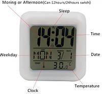 Часы электронные светящиеся цифровые хамелеоны