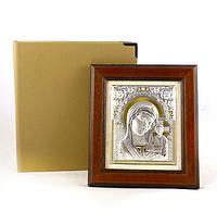 Икона Казанская в деревянной рамке в шкатулке 16*17 см