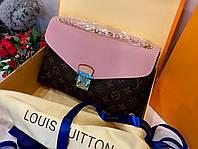 Стильная сумочка LOUIS VUITTON Monogram Canvas Pallas Chain натуральная кожа (реплика), фото 1