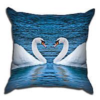 Декоративная подушка Лебедя 40х40см