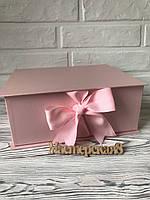 Подарочная коробка 25*19,5*10 см, в наличии 4 цвета, красный , розовый, шоколадный, синий