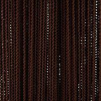 Шторы-нити Букле цвет шоколадный