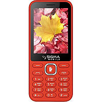 Телефон кнопочный с большим экраном мощной батареей и функцией PowerBank красный