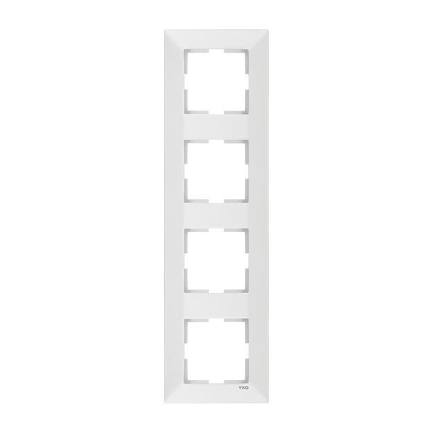 Рамка 4-я вертикальная белая ViKO Karre 90960223
