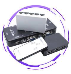 Switch HDMI, DVI, RCA, RGB, VGA, LAN