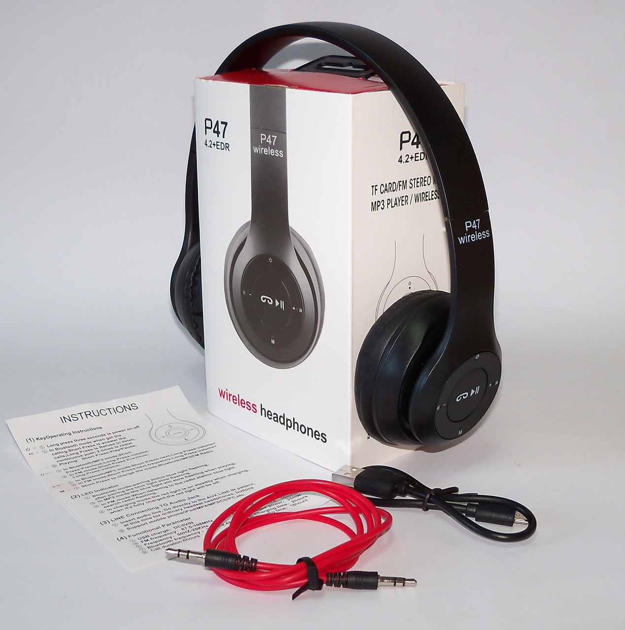 Bluetooth Wireless Headphones P47 Headphone Beats Solo 2 Fm Mp3