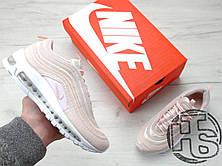 Женские кроссовки реплика Nike Air Max 97 Premium Pink Snakeskin/White 917646-600, фото 2