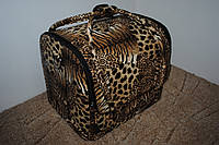 Сумка-чемодан мастера большая леопардовая