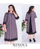 Сукня А-силуету з льону-коттону меланж