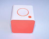 Портативная колонка MUSIC BT-19 Mini Bluetooth, белый с оранжевым