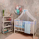 Комплект детского постельного белья Baby Design облака 6 пр., фото 4