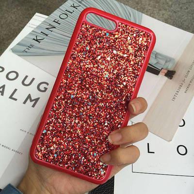 Чехол накладка для iPhone 5/5s/se Diamond Shining красный