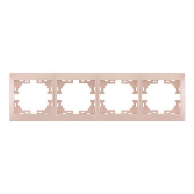Рамка 4-я для розеток и выключателей Lezard Mira 701-3000-149