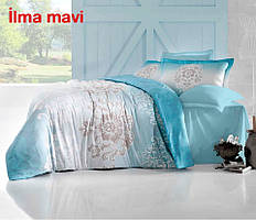 Постельное белье Altinbasak (семейное) сатин № Ilma Mavi
