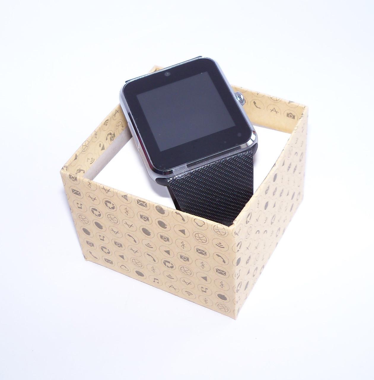 Смарт часы - телефон SMART WATCH GT08 GSM (в стиле Apple Watch) black