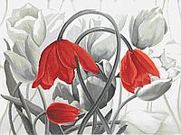Вышивка бисером Тюльпаны (монохром)