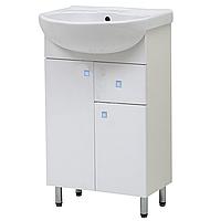 """Тумба под раковину для ванной комнаты Эко-Т3 55 с умывальником """"Аква 55"""" Юввис"""