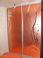 Шкаф-купе Орхидея 108 Стекло зеркало+фотопечать размер высота