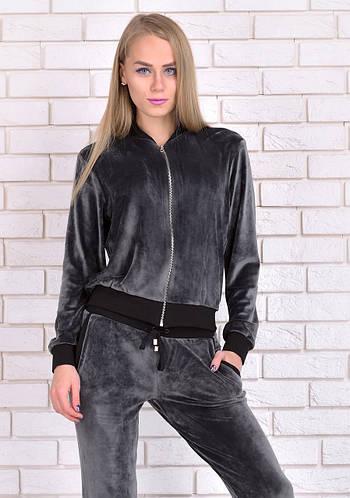 Велюровый костюм спортивный женский курткас брюками из велюра