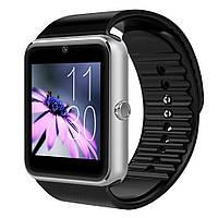 Смарт - часы SMART WATCH GT08 Gsm black-silver , фото 1