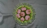 Букет из конфет нежно-розовый, 7 конфет