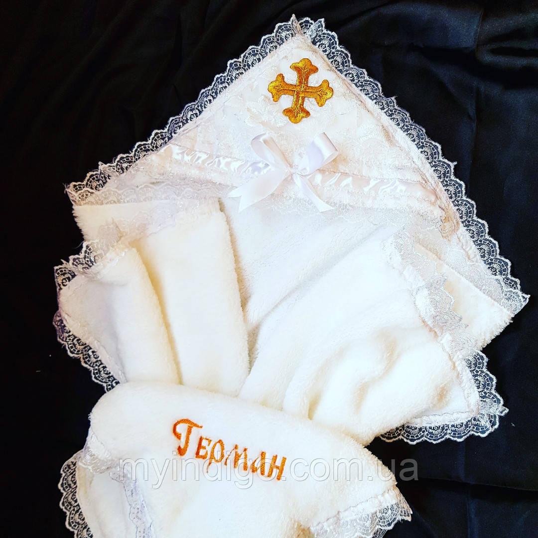 Крижма для хрещення махрова Ангел плюс