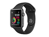 Apple Watch Series 2 42mm Space Gray Aluminum Case with Sport Band Black '5, фото 1