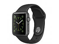 Apple Watch Series 42mm Space Gray Aluminum Case with Black Sport Band, фото 1