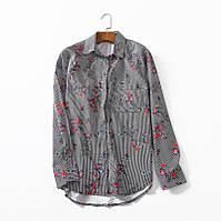Блузка с цветами Zara