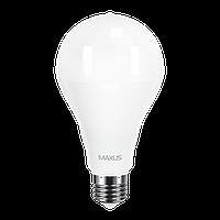 Светодиодная LED лампа MAXUS, 20W, 4100K, 220V, A80, E27