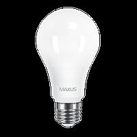 Светодиодная LED лампа MAXUS, 12W, 4100K, 220V, A65, E27